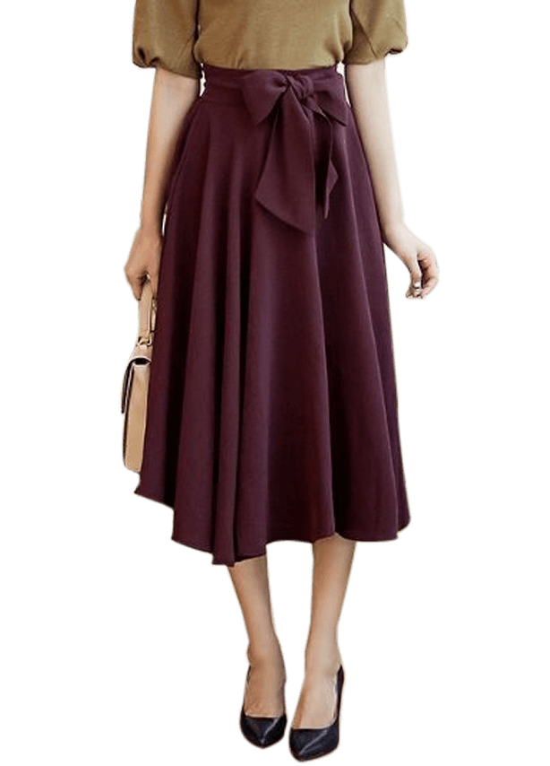Below Knee Maxi Skirt