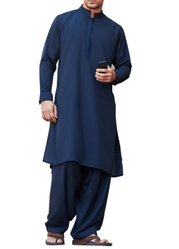 Big Mandarin Collar Kameez