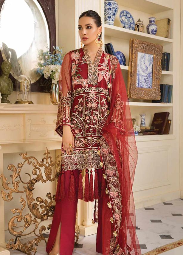 Embroidered Zari Net (3 Piece)