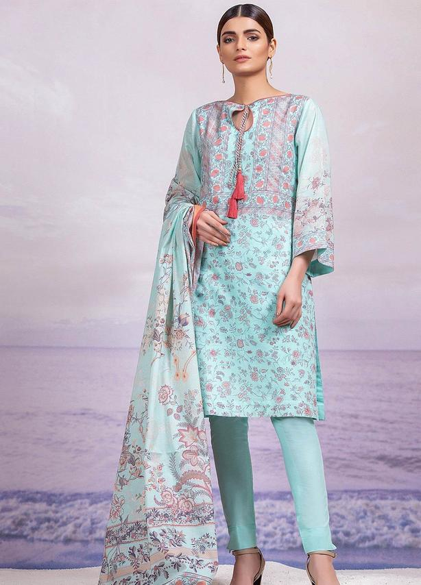 Printed Lawn Suit (3 Piece)