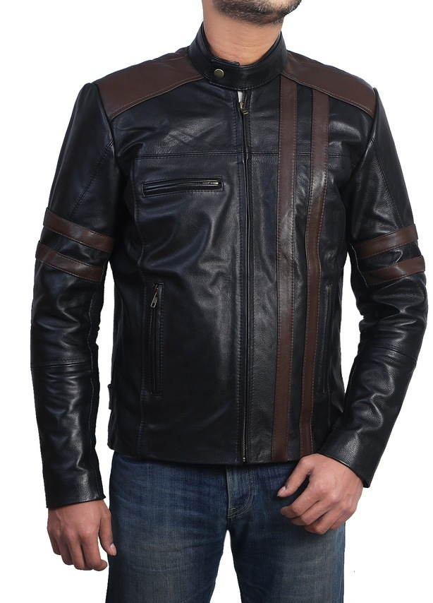 RetroBiker Style Black Nappa Leather Jacket