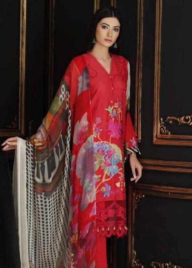 Embroidered Swiss Voile Suit (3 Piece)
