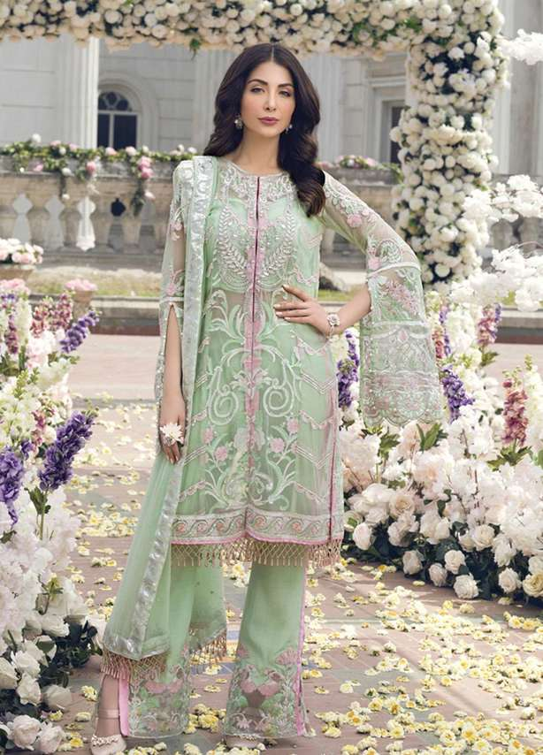 Embroidered Chiffon Suit (3 Piece)