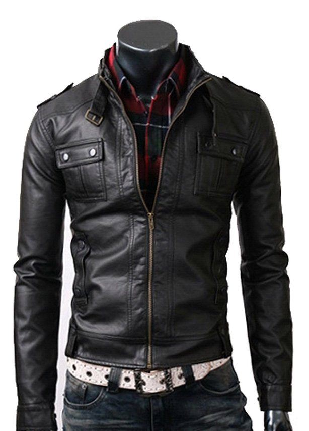 Slimfit Rider Black Leather Jacket