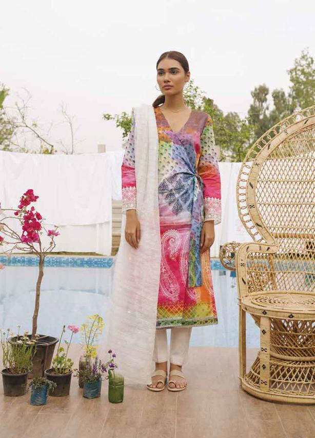 Embroidered Lawn Suit (3 Piece)